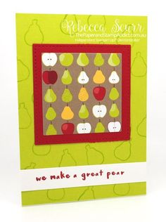 Onstage Presentation – Tutti Frutti bundle – Fruit Basket, Itty Bitty Fruit Punch Pack - Rebecca Scurr – Independent Stampin' Up! Demonstrator – www.facebook.com/thepaperandstampaddict