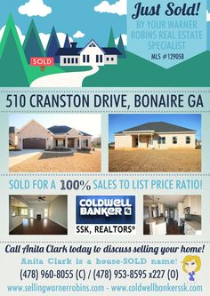 Just SOLD this 3 Bdrm/2 Bath home in The Pines at McCarley Downs Subdivision, Bonaire GA 31005 (MLS # 129058)