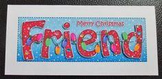 Card Gallery - Large DL Christmas FRIEND Fairy Lights 3D decoupage
