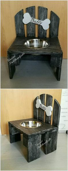 If you want a project for your pet dog then you should create this awesome project. You can easily fix a place on this project and put food in it for your dog. You can also put a old pallet bone on it.