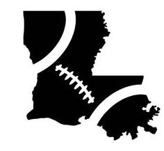 Louisiana Football State Shape Vinyl Decal // Car Decal // Laptop or Phone Decal // Decal Only // Oracal 651 Adhesive Decal