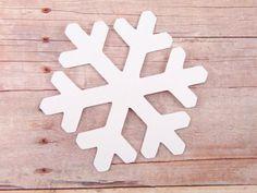2.25 Snowflake Die Cuts set of 25 by HelloSunshinePaperCo on Etsy