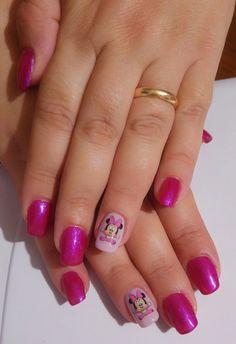 Fucsia glitter lilla pastello minnie