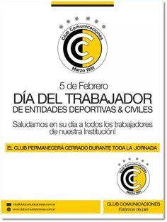 Día del trabajador de entidades deportivas y civiles