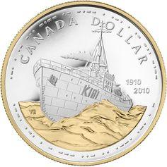 Canadian Navy Centennial Silver Dollar