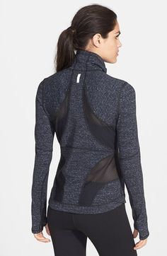 Basic with a bit of edge.  Love mine. Zella 'Femme - Space Dye Pop' Jacket | Nordstrom