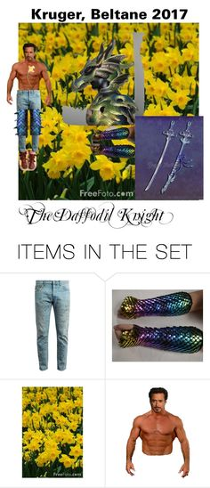 """Kruger, Beltane 2017: The Daffodil Knight"" by akrugerallen ❤ liked on Polyvore featuring art"