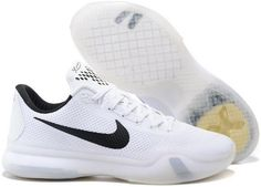 6c4cd1312783 The cheap Authentic Nike Zoom Kobe 10  Fundamentals  White Wolf Grey-Black  Shoes factory store are awesome pair of shoes but it seems the super high  top ...