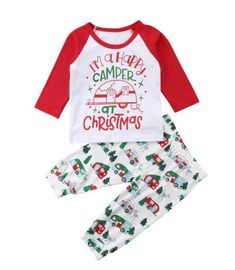 228c3eb9f0b4 Super cute Christmas outfit or jammies for those happy campers. Newborn  Outfits