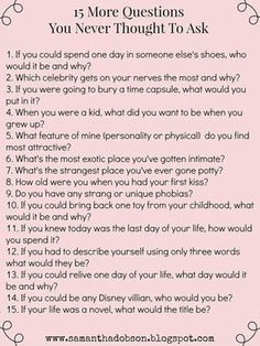 date night questions you never thought to ask!More date night questions you never thought to ask! date night questions you never thought to ask!More date night questions you never thought to ask! Date Night Questions, Fun Questions To Ask, This Or That Questions, Questions To Get To Know Someone, Questions To Ask Your Boyfriend, Icebreaker Questions, Truth Or Dare Questions, Interesting Questions To Ask, Fun Date Questions