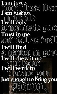 Tool - Sober DAMN if only they would say that in the beginning. Amazing song