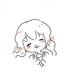 Kawaii Doodles, Cute Doodles, Kawaii Art, Cute Cartoon Characters, Cartoon Art Styles, Kawaii Drawings, Easy Drawings, Cute Cartoon Wallpapers, Cute Icons