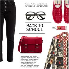 A fashion look from August 2017 featuring Gucci tops, Balenciaga jeans and Dr. Martens handbags. Browse and shop related looks.