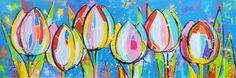 vrolijke schilderijen bloemen - Google zoeken