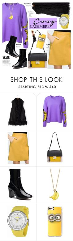 """""""Cozy Cashmere(faux fur gilet) - Yoins 4.29"""" by cly88 ❤ liked on Polyvore featuring Natasha Zinko, Salvatore Ferragamo, Kate Spade, Fruitz, Casetify, Banana Republic and Anastasia Beverly Hills"""
