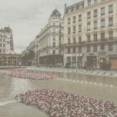 #Lyon #city #Bellecour #Flowers #Dream #Sky #Beautyfull #Picture  #Vintage