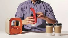 How to use the sustainable cup carrier 'Quarter Bag' on Vimeo