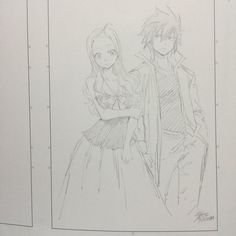Mirajane & Gray ~ Fairy Tail // Art by Hiro Mashima