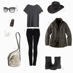 mom uniform/wekend uniform - hm top + current elliot jeans + frye boots  #rayban #hm #frye #shopbop #barbour #currentelliott