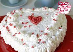 Per un #SanValentino golosissimo ecco questa squisita Torta per San Valentino panna e cioccolato!  Clicca e scopri la ricetta...