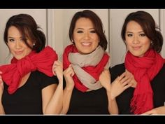 Scarf Tying Ideas - 6 Ways to Wear Your Scarves - YouTube