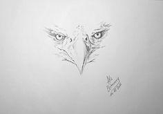 Título: Los ojos del Águila - Dibujo con boligrafo (47x32cm) - San Luis, Argentina - Autora: Alejandra Etcheverry