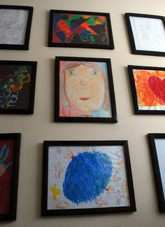 Create a kids' art gallery wall! by The Shabby Nest