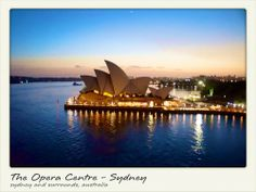 A lovely view of the opera house at sunset. The Opera Centre - Sydney Sydney, Australia