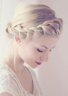 Waterfall Side Twist + Low Bun + Blond