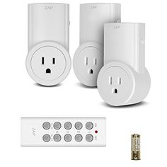 The Etekcity Remote Control Outlet Switch Kit works from as far as 100 feet and is great for switching on/off hard-to-reach appliances and devices without built-in power switches. Wanna feel old? Remember the 'clap' light? Clap twice
