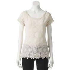 4332f619f8d Trixxi Slubbed Crochet Lace Tee - Juniors #Trixxi x #societygirl Lace Tee,  Junior