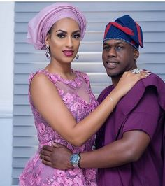 @julietibrahim and her Beau @iamicebergslim  #Asoebi #AsoebiSpecial #Weddings #baad2017