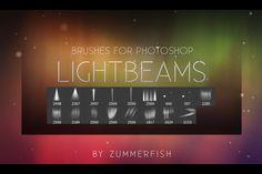 Lightbeams Photoshop Brushes