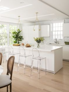 For modern bar stools, look no further than Lucite® acrylic.