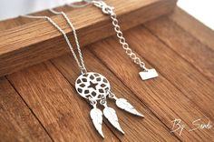 Sterling Silver Dream Catcher Necklace, Silver Dream Catcher, Dream Catcher…