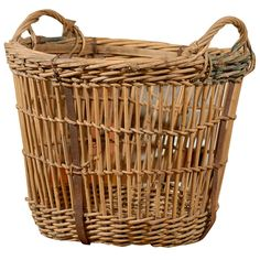 English wicker basket ca 1890