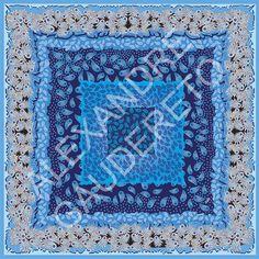 Lenço Azul - Tamanho Grande 90x90cm