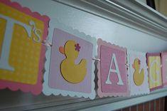 It's a Girl Banner Rubber Duck Banner Rubber Duck by GiggleBees, $14.00