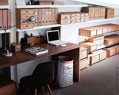 home office inspiration Home Office Space, Home Office Design, House Design, Attic Office, Office Storage, Office Organization, Organized Office, Box Storage, Chaise Dsw