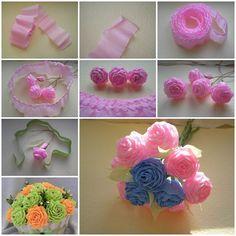 How to diy beautiful crepe paper flower ball flower ball crepe how to make unique crepe paper flowers mightylinksfo