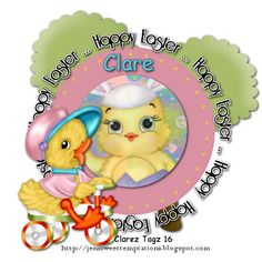 Clarez Creationz: HAPPY EASTER DUCKLING Paint Shop, Happy Easter, Princess Peach, Animation, Frames, Painting, Tags, Happy Easter Day, Frame