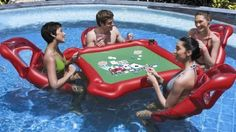 INFLATABLE lake card table