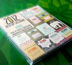 2012 MBM desk calendar - fab artwork