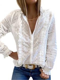 V Neck Blouse, Online Purchase, Bag Accessories, My Style, Lace, Long Sleeve, Casual, Tops, Blouses