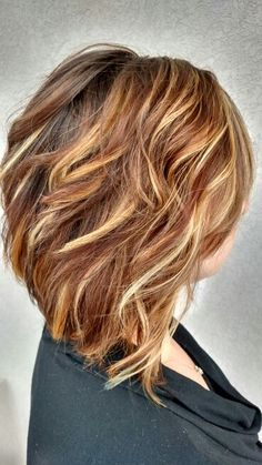 Dimensional color, caramel, blonde