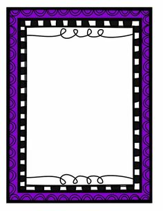 🔲 Borders For Paper, Borders And Frames, Powerpoint Background Templates, Picture Borders, Scrapbook Frames, Diy Calendar, Quilt Border, Space Party, Bullet Journal Art