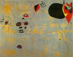 Joan Miro - La Course de taureaux - 1945. http://jpdubs.hautetfort.com/archive/2007/05/15/surrealisme.html