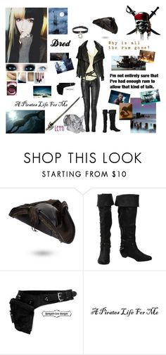 """""""me in pirates of the caribbean"""" by dreadful-glassheart ❤ liked on Polyvore featuring Balmain, DAY Birger et Mikkelsen, WALL, GET LOST, Black Pearl and H2O+"""