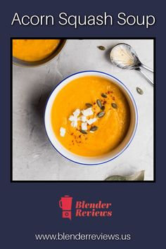 Blending fall into your food. Making a delicious seasonal acorn squash soup in about an hour. Jelly Recipes, Easy Soup Recipes, Canning Recipes, Squash Soup, Acorn Squash, Healthy Blender Recipes, Vitamix Recipes, Green Smoothie Recipes, Healthy Smoothies