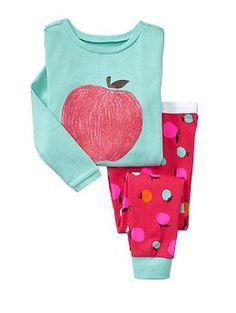 "Nothing says ""Fall"" like apples.  Baby Gap Apple sleep set for my cutie pie!"